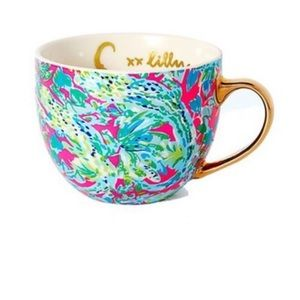 NIB Lilly Pulitzer GWP cappuccino mug in snap back